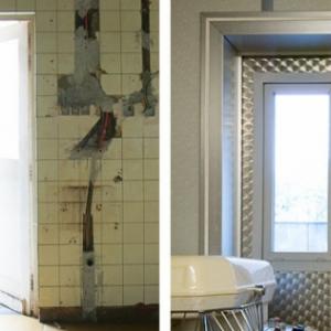 voor en na renovatie buitendeur voedingsatelier