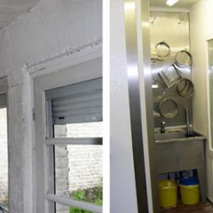 voor en na renovatie croissanterie