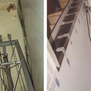 voor en na renovatie liftkoker