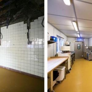 voor en na renovatie patisserie