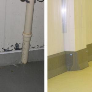 voor en na renovatie roeste frigopanelen