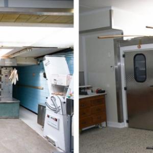 voor en na renovatie artisanale bakkerij
